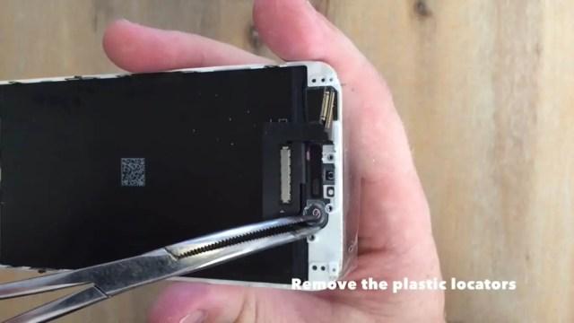 remove the plastic locators