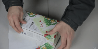 wrap a gift in under 12 seconds