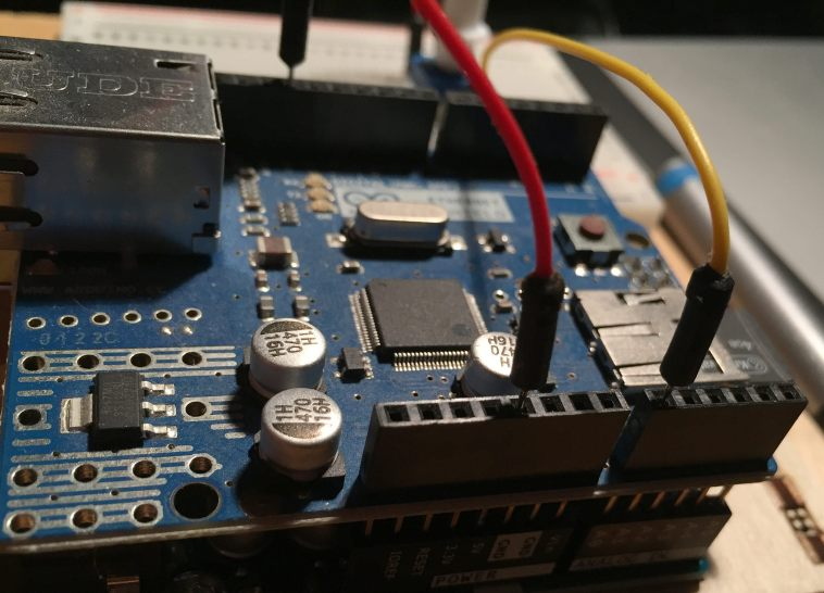 sensors connected to arduino ethernet shield