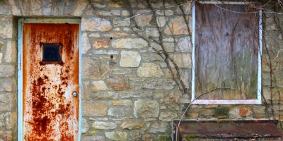 refurbish a rusted steel door