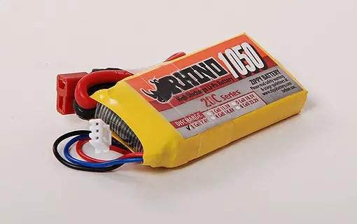 1050mah rhino lipo battery