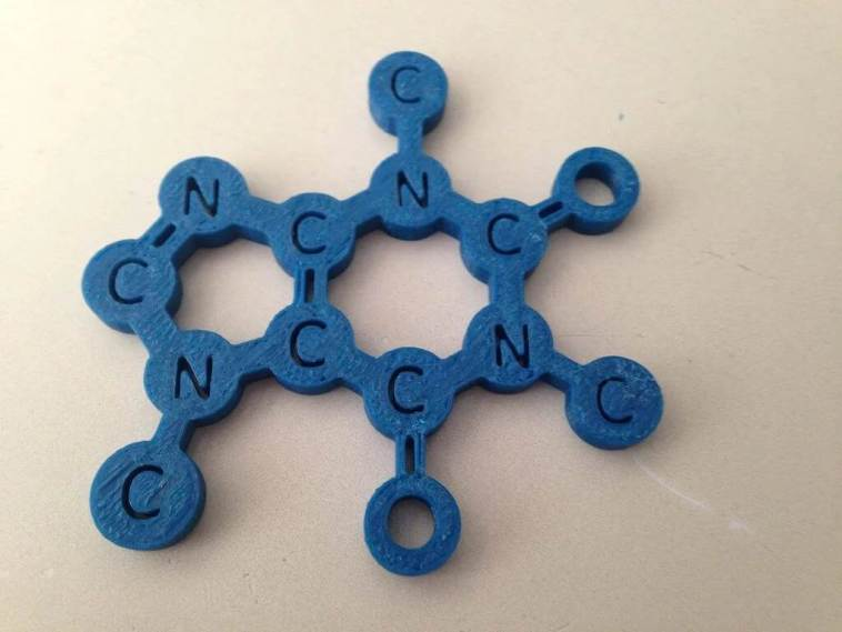 caffeine molecule coffee coaster