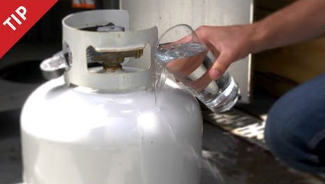figure out how much propane is left in your gas tank