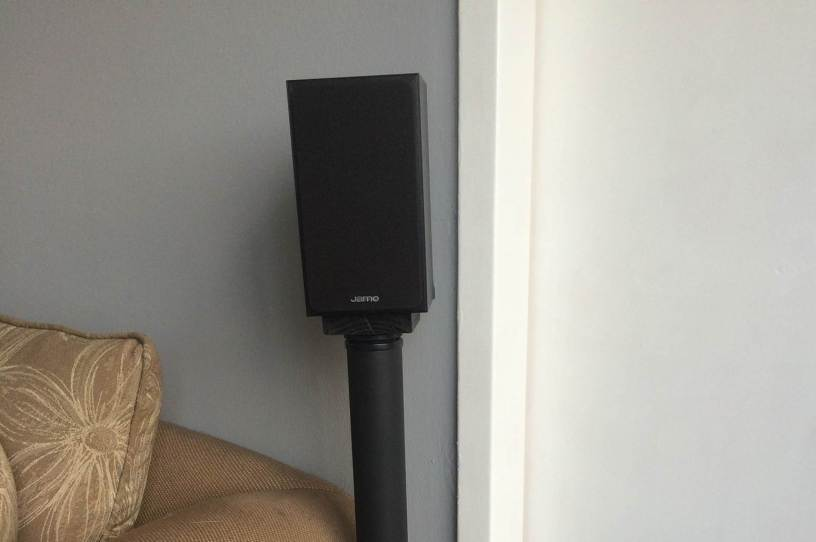 homemade surround sound speaker stand