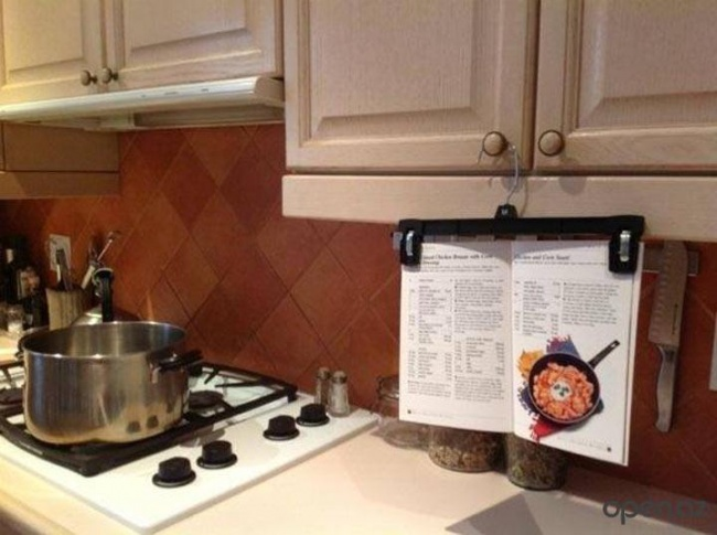 recipe book hanger for the kitchen