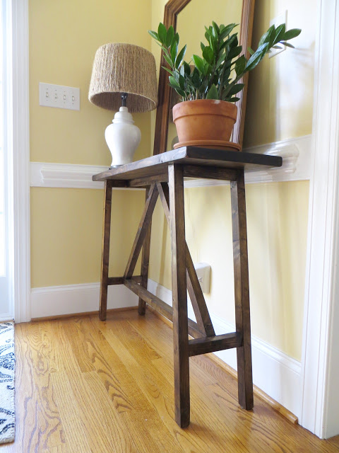2x4 entrance table