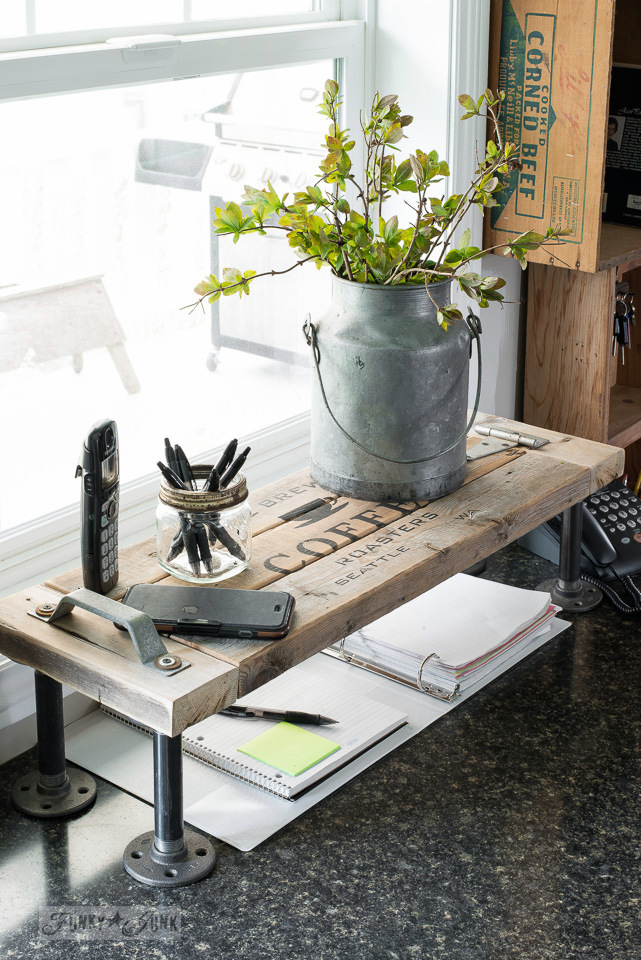2x4 kitchen phone table