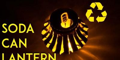 make an LED soda can lantern