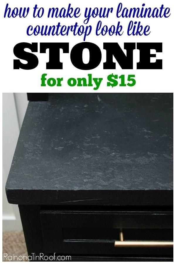 make your laminate countertop look like stone