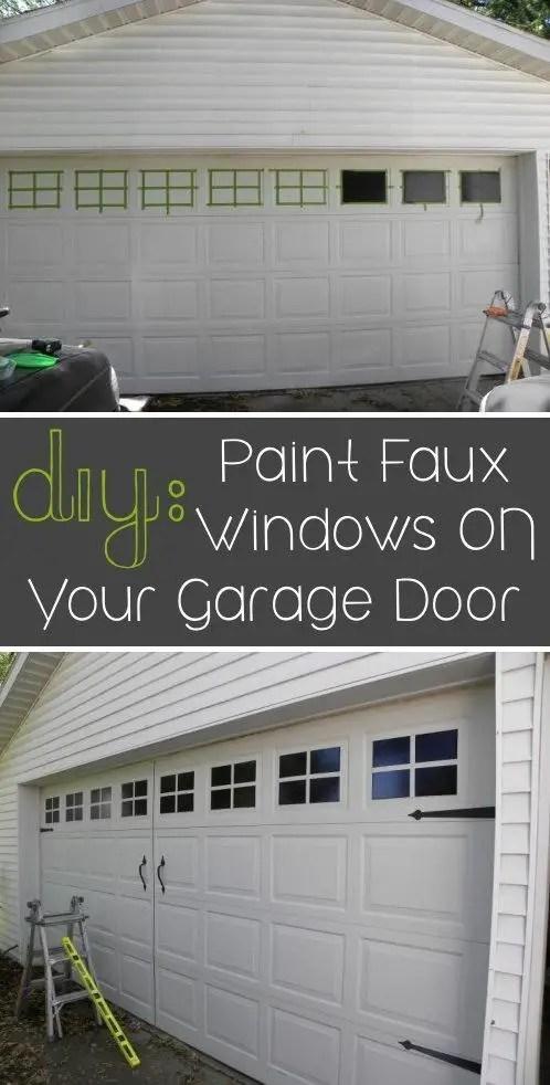 paint faux windows on your garage doors