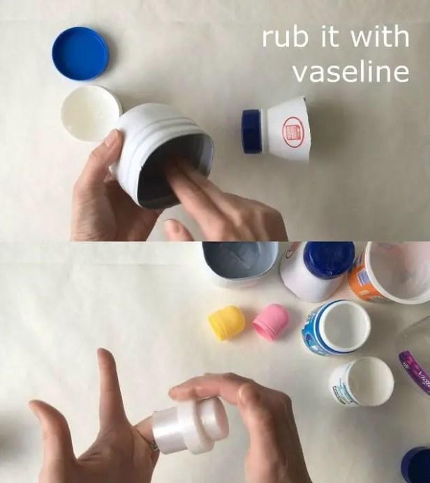 rub vaseline on the inside