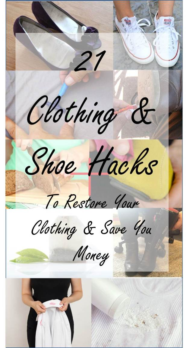 21 Ingenious Clothing and Shoe Hacks To Save You Money