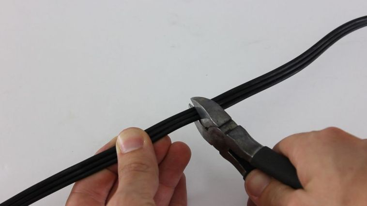 cut the signal cable
