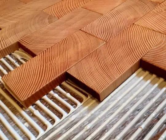 end grain block flooring