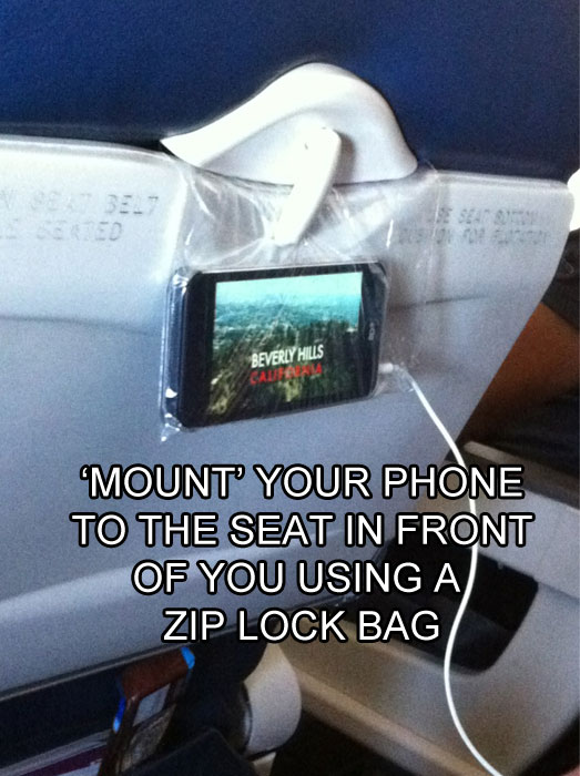 mount your phone on the seat