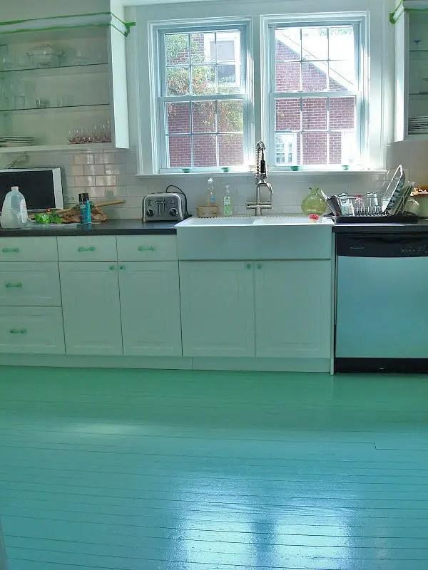 simple painted floor
