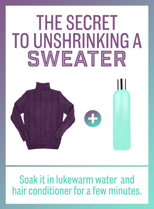 unshrink your favorite sweater