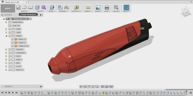 dremel style rotary tool 3d cad design