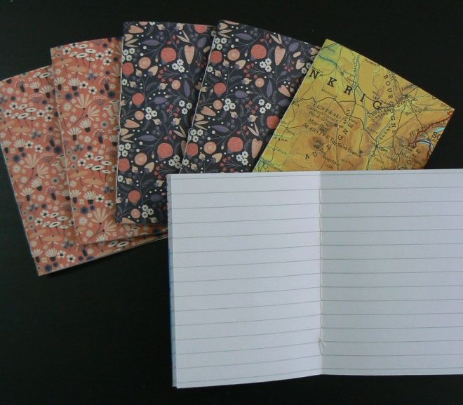 make your own stitched pocket notebooks