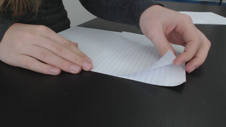 next cut the paper