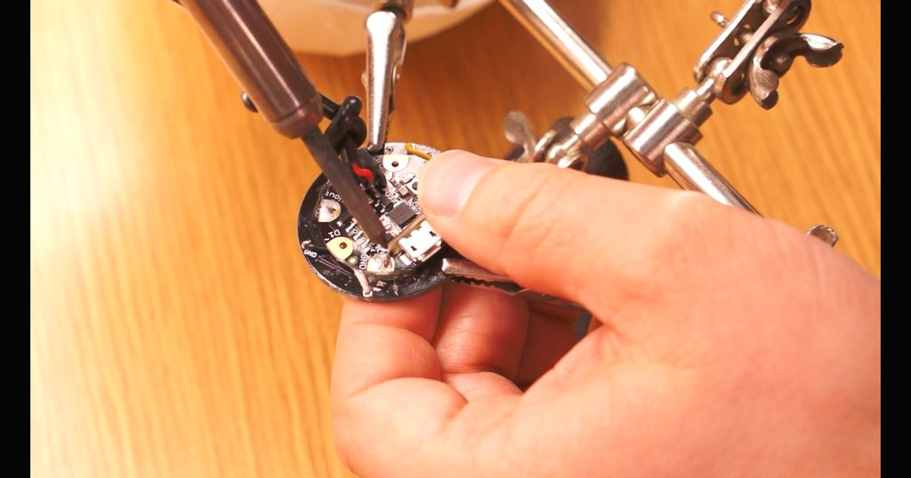 Soldering The LED Ring Onto