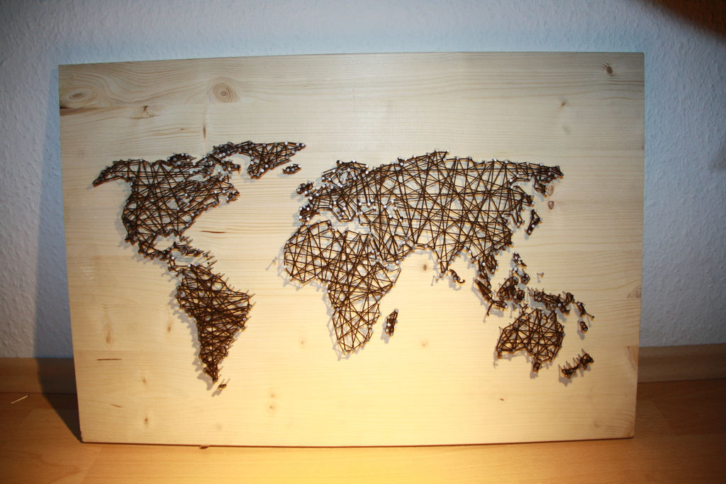 string art world map | The DIY Life