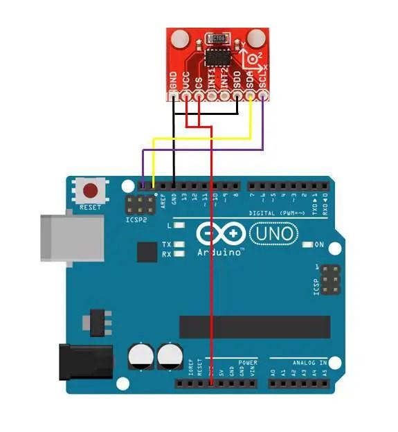 ADXL345 Connection Diagram