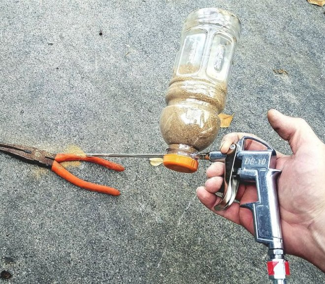 Make A Sandblaster For $5