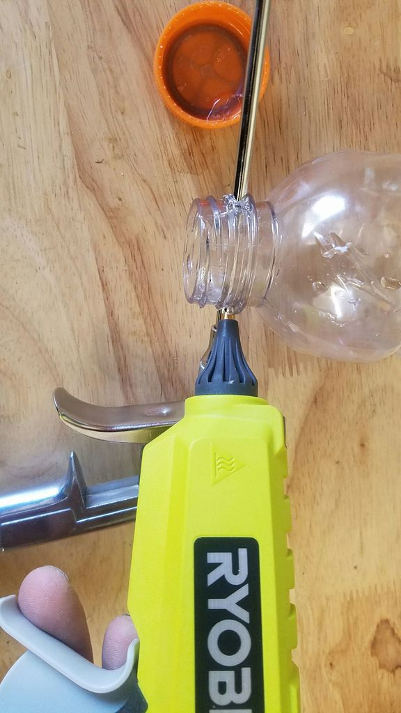 Seal The Sandblaster Bottle With Glue