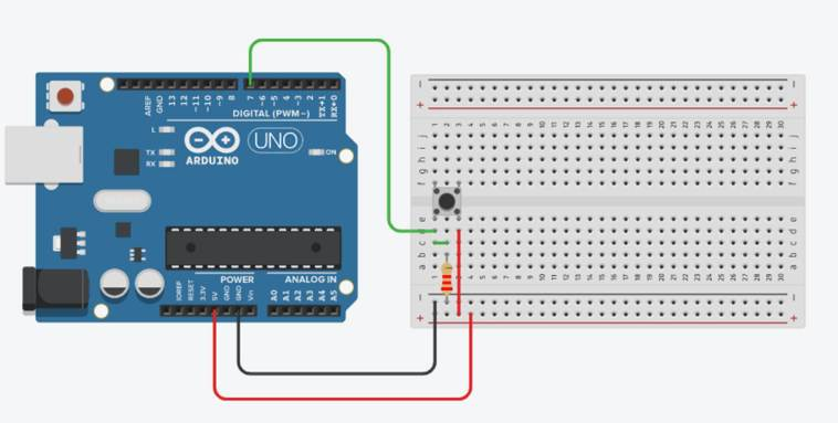 Single Push Button On Single Arduino Input