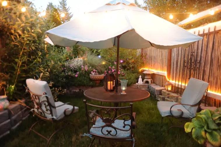 DIY privacy screen as a practical backyard shade