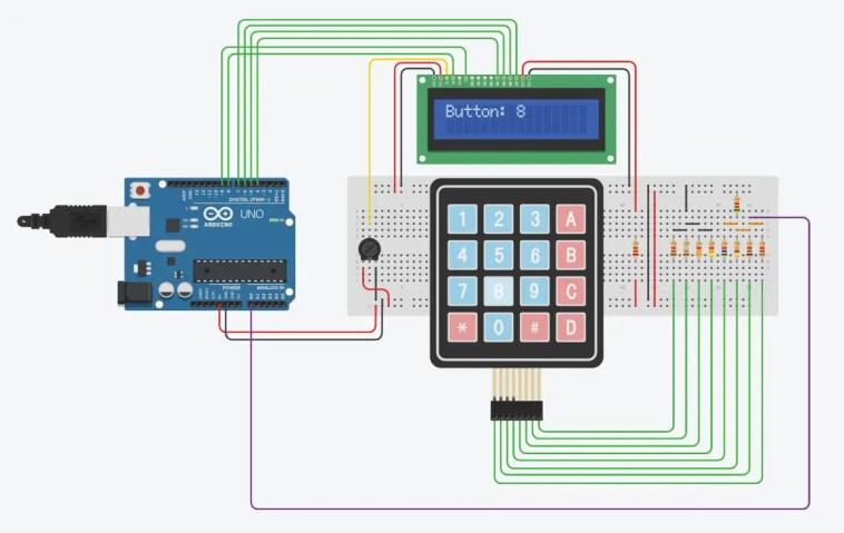 Operation - 4x4 Keypad To One Arduino Input
