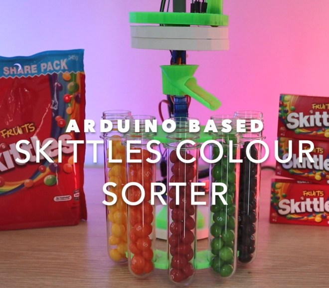 Arduino Based Skittles Colour Sorter