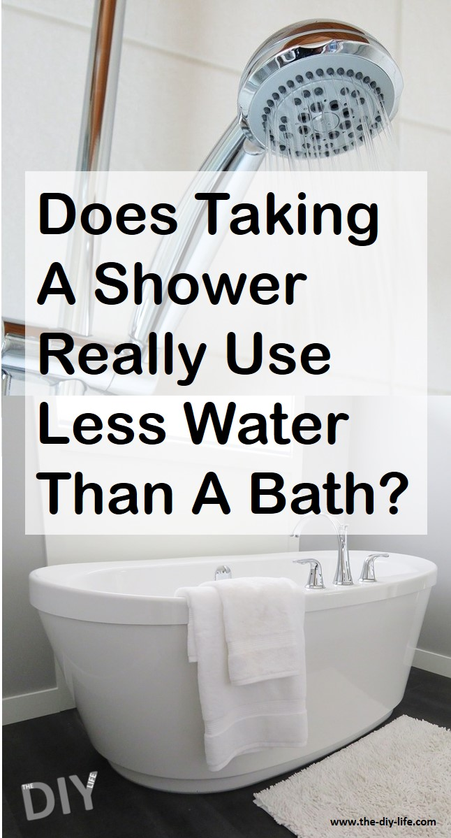 Does Taking a Shower Instead of a Bath Actually Save Water Pinterest