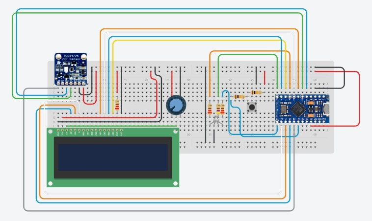 RGB Colour Picker Circuit Diagram