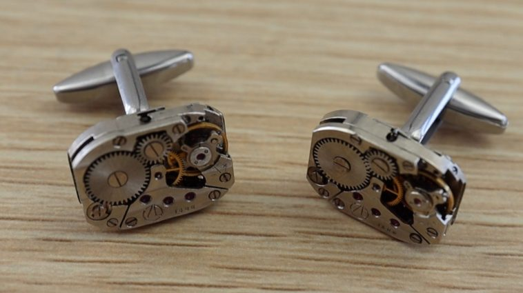 Completed Watch Movement Cufflinks