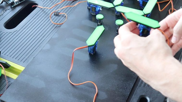 Gluing The Servos In Place