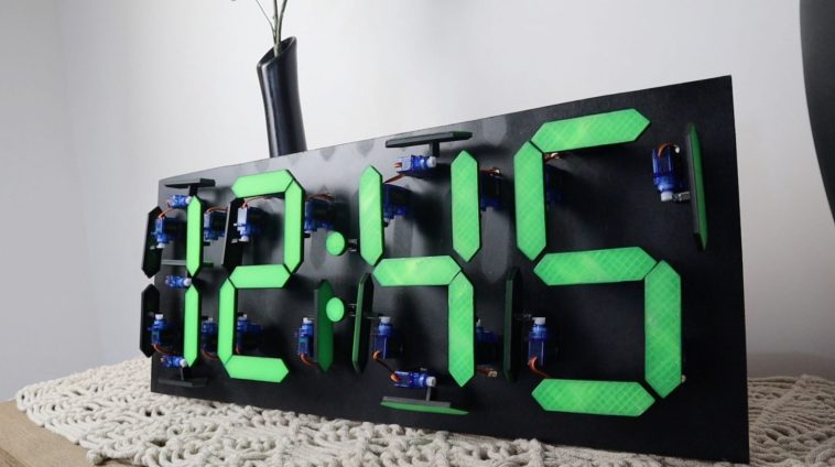 Mechanical 7 Segment Display Using Servos