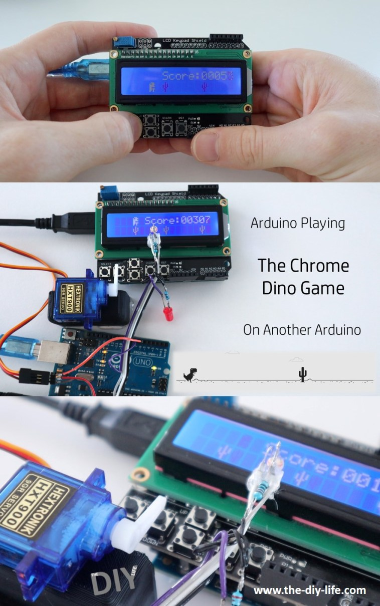 An Arduino Playing The Chrome Dino Game On Another Arduino Social