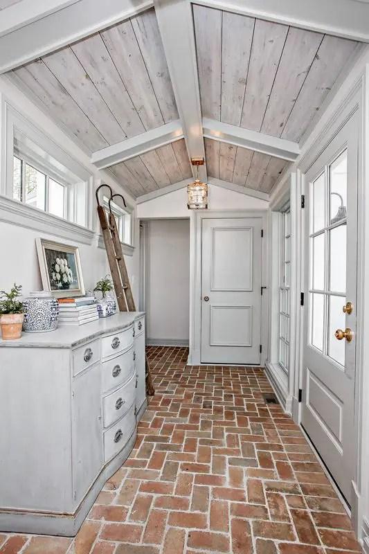 Exposed Brick Floor Of Cottage