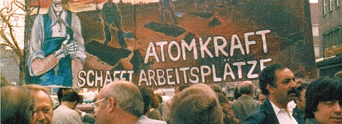 1980: Heraus zum Grünen 1. Mai - Transparent von Jörg Immendorf