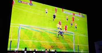 Dezember 2017: Braunschweig vs F95 - das 0:1 durch Davor Lovren (Screenshot)