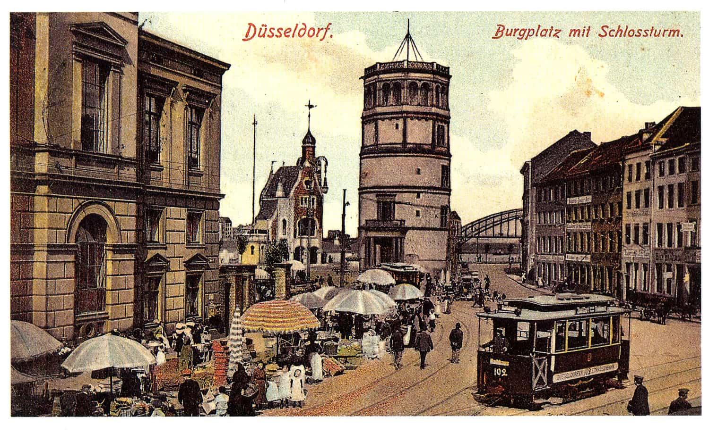 Blick über den Burgplatz in die Krämerstraße