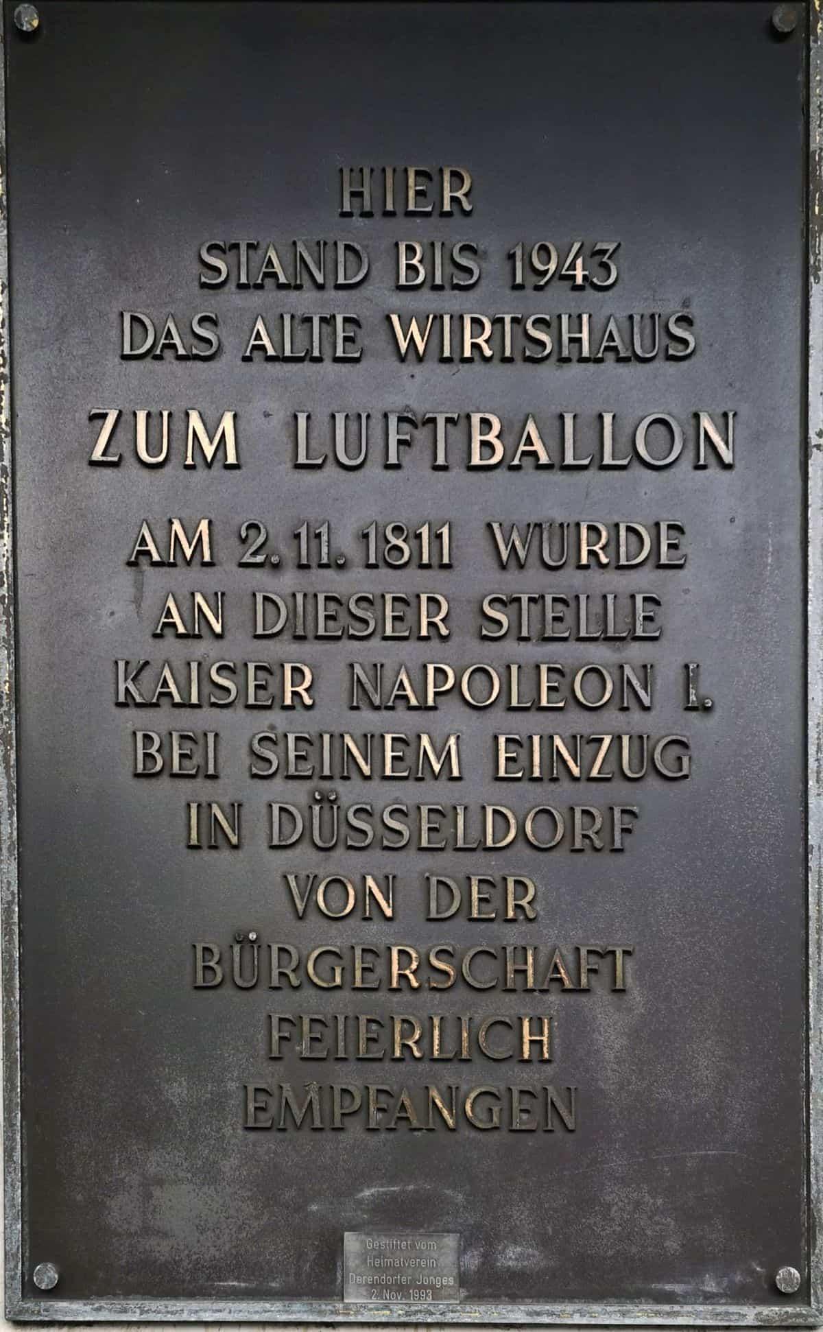 """Gedenktafel """"Am Luftballon"""""""