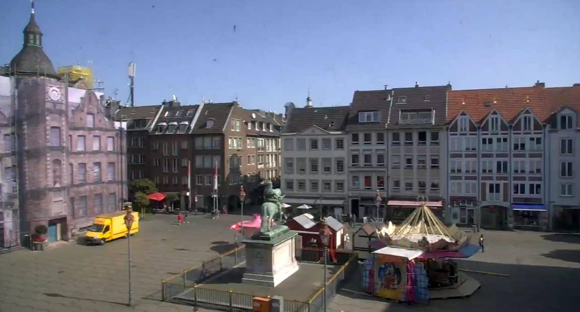 Die städtische Webcam am Marktplatz (Screenshot)