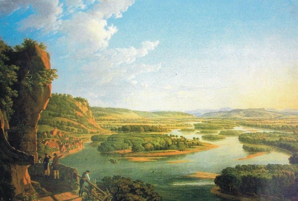 Blick vom Isteiner Klotz - Gemälde von Peter Birmann