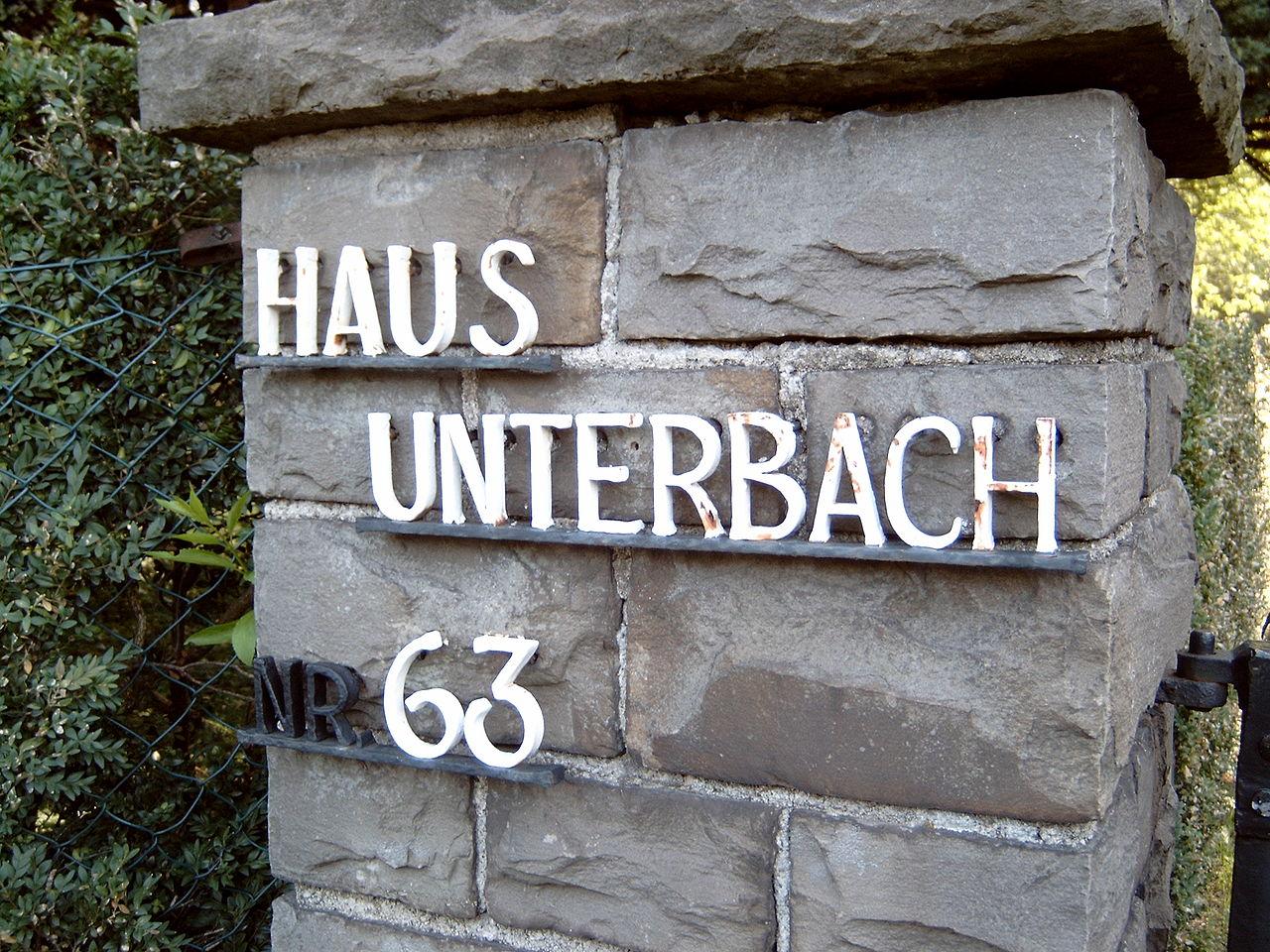Das Haus Unterbach findet sich nicht in Unterbach sondern in Erkrath (Foto: via Wikimedia - siehe Bildnachweis unten)