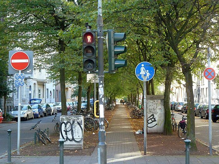 Blick in die Volksgartenstraße von der Oberbilker Allee aus (Foto: TD)