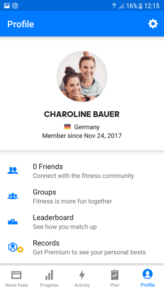 Fitness-App Runtastic - Lauf, Charoline, lauf