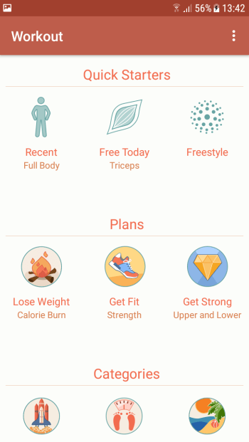 Fitness-App Seven